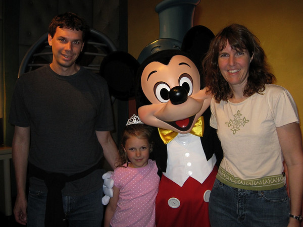 Us and Mickey at Disneyland